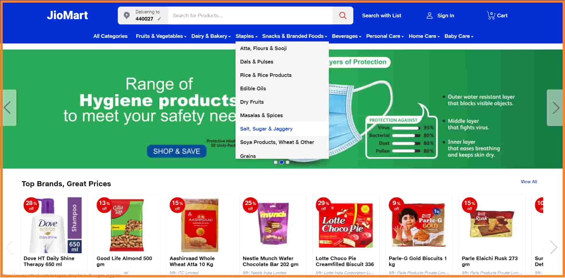 Reliance Online Grocery