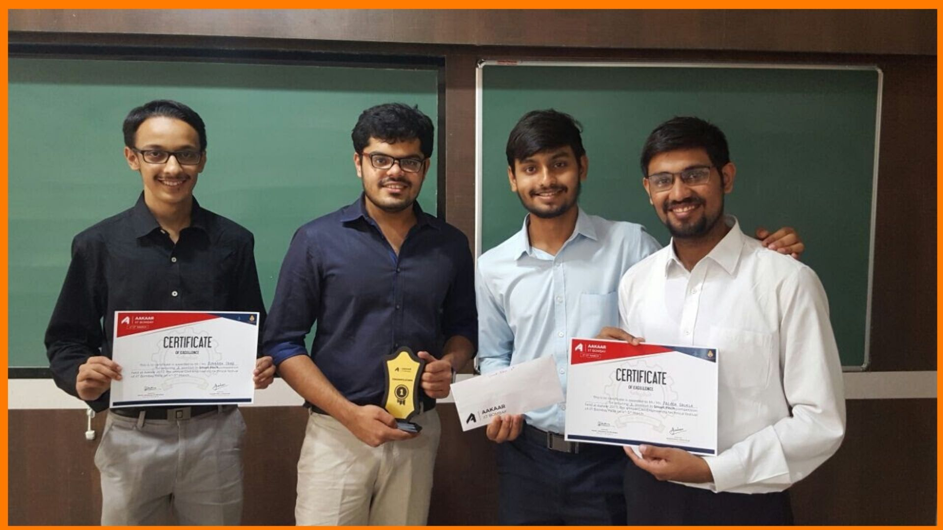 1st Prize at Smart Pitch, IIT Bombay