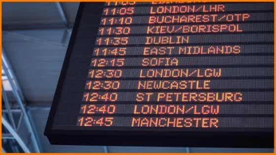 Business Ideas / Digital Display Board Showing Names of Various Places