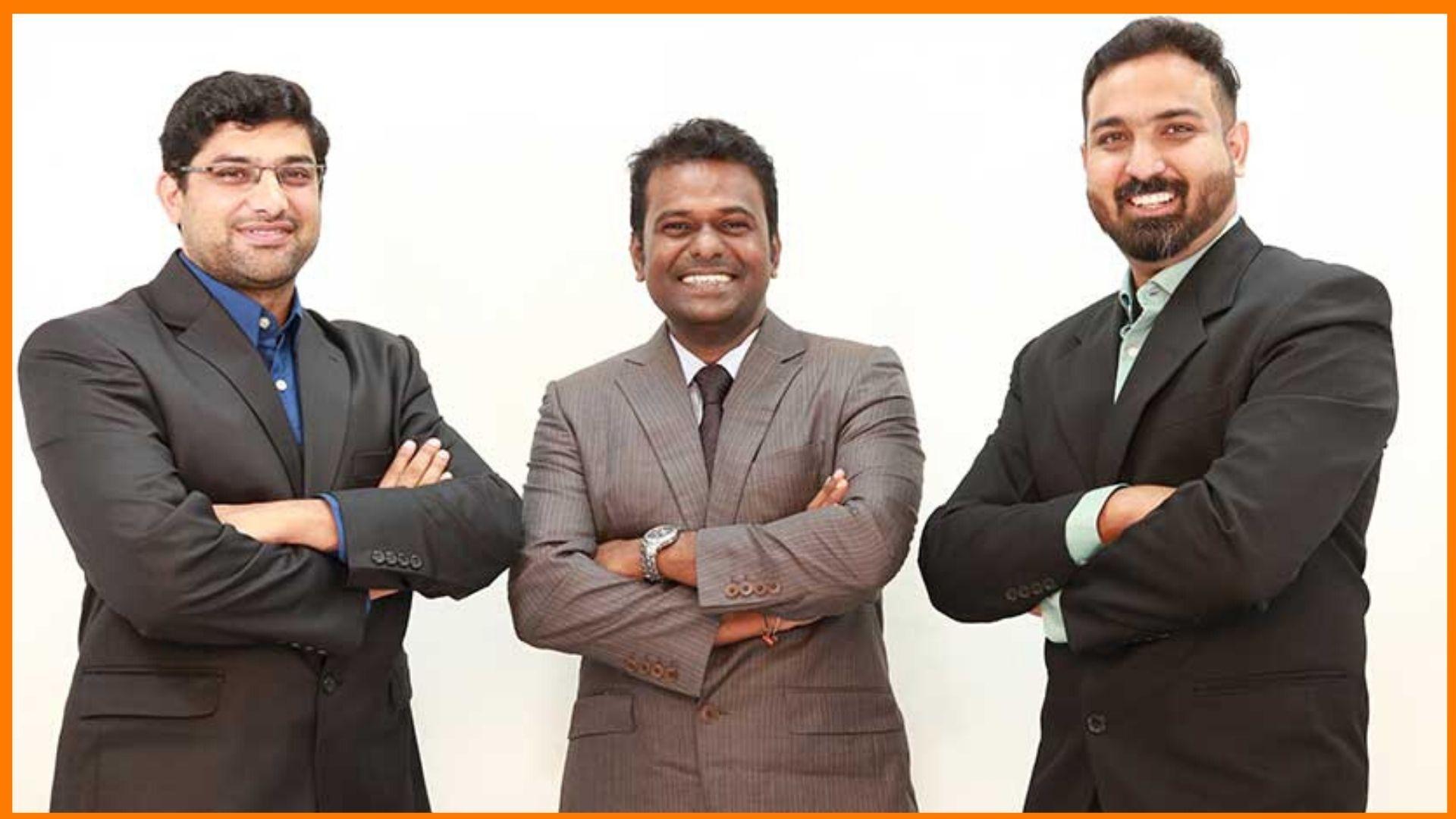 Flintobox owners Arunprasad Durairaj, Vijaybabu Gandhi, and Shreenidhi Srirangam