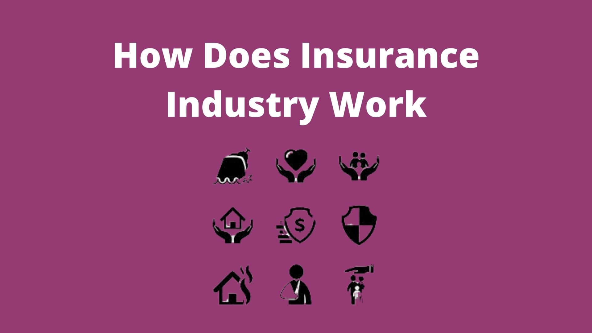 How Insurance Industry Work