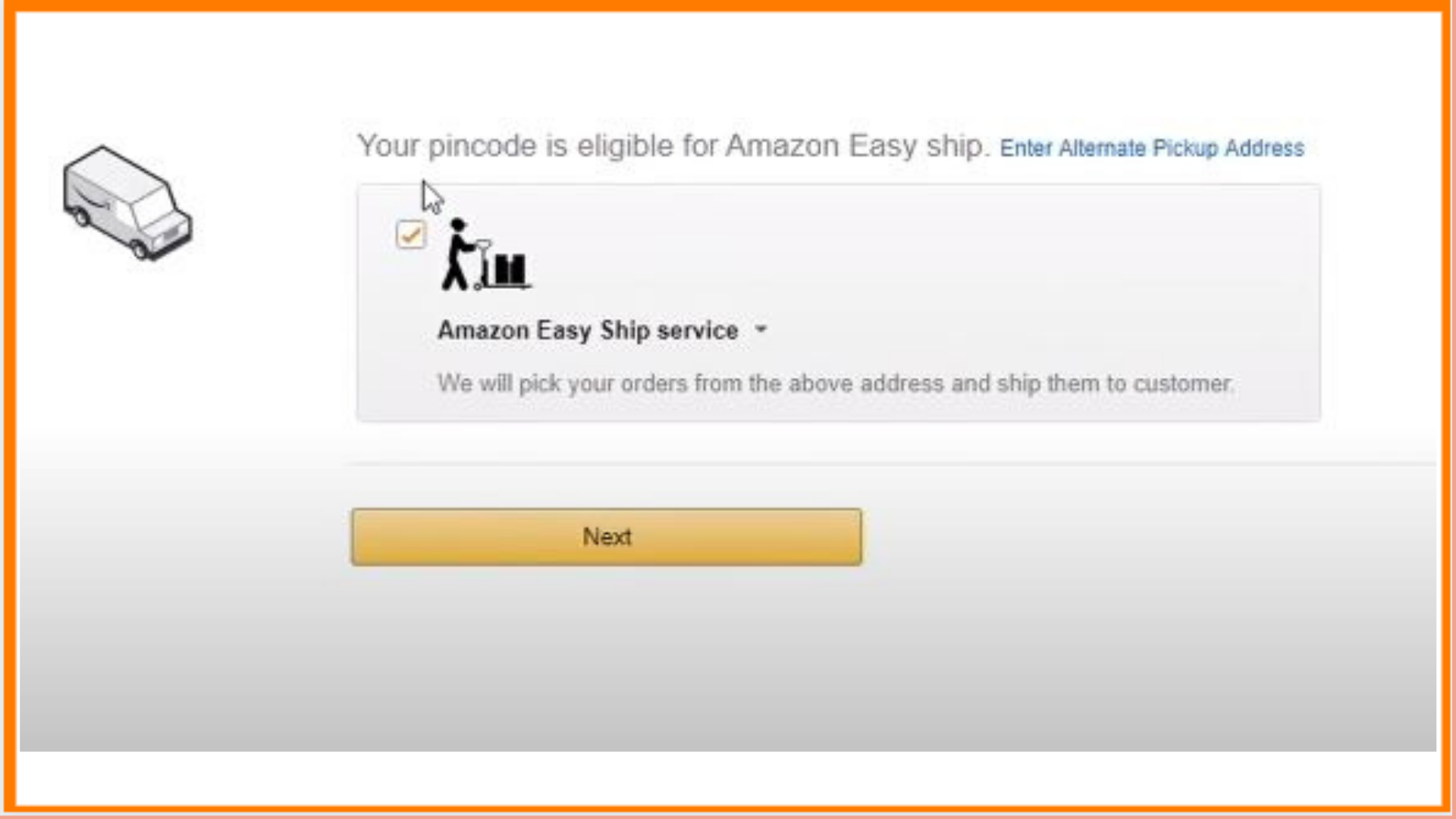 Easy Ship Fee Amazon