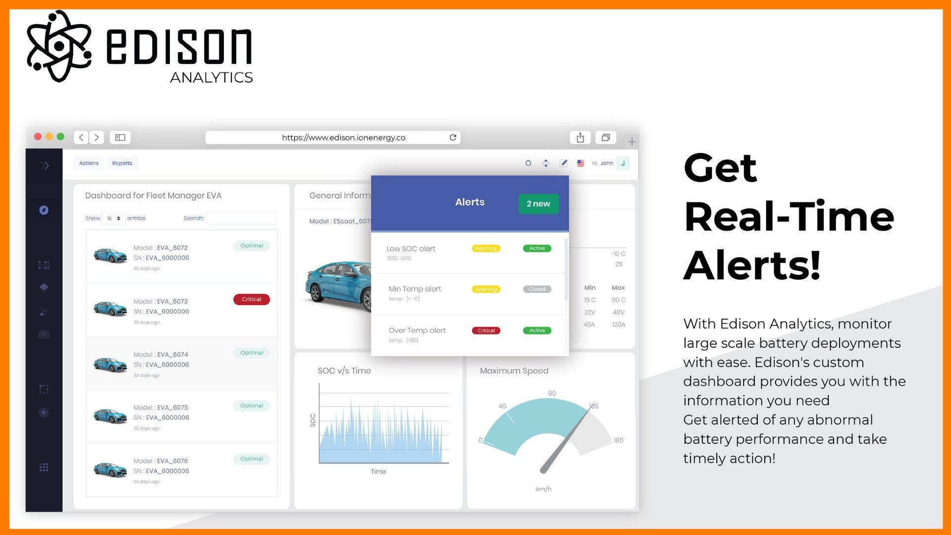 Get Real Time Alerts with Edison analytics