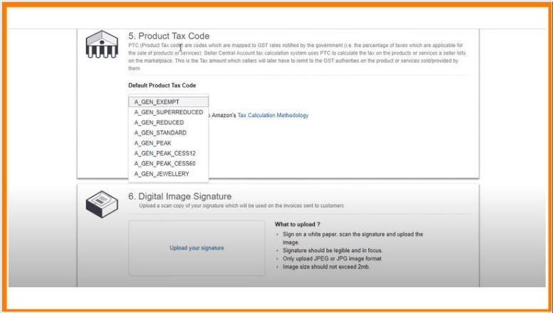 Tax Code and Digital Signature
